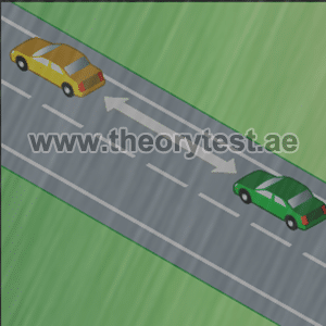 leave to the vehicle in front